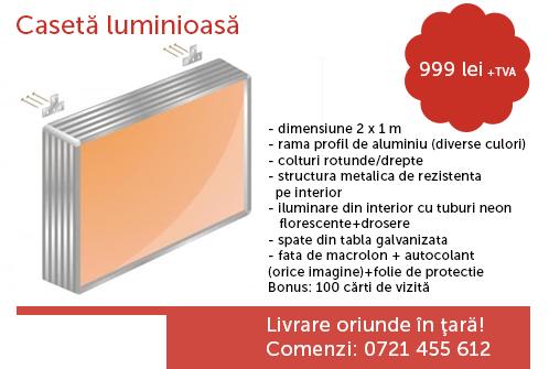 Caseta luminoasa din aluminiu